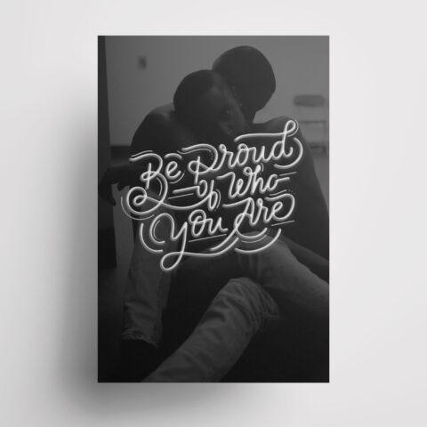 Poster lettering